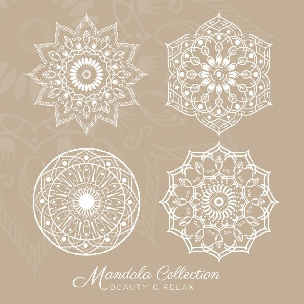 Mandala designs collection Free Vector