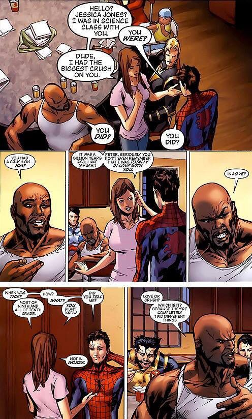 Luke Cage, Jessica Jones and Peter Parker   Jessica Jones ...