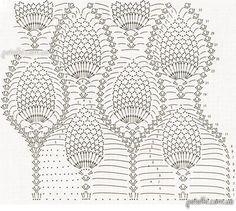 Шикарная длинная ананасовая юбка крючком. Описание, схема