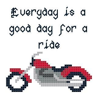 Harley Davidson Motorcycle good day to ride by TheGiftMarket, $3.00