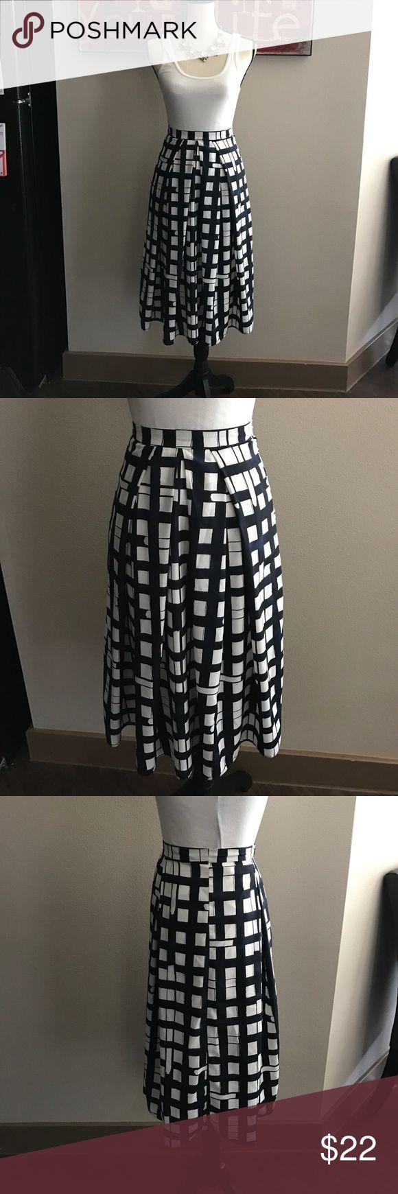 ASOS skirt Blue & white checkered midi skirt, has back zipper! ASOS Skirts Midi