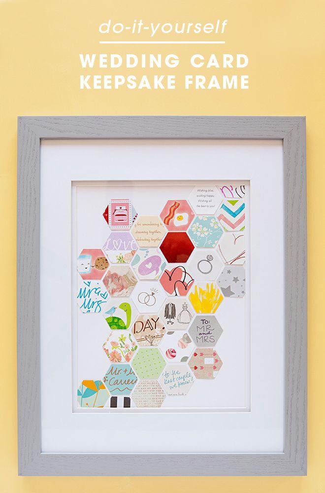 Impresionante idea de bricolaje del recuerdo para guardar sus tarjetas de boda!