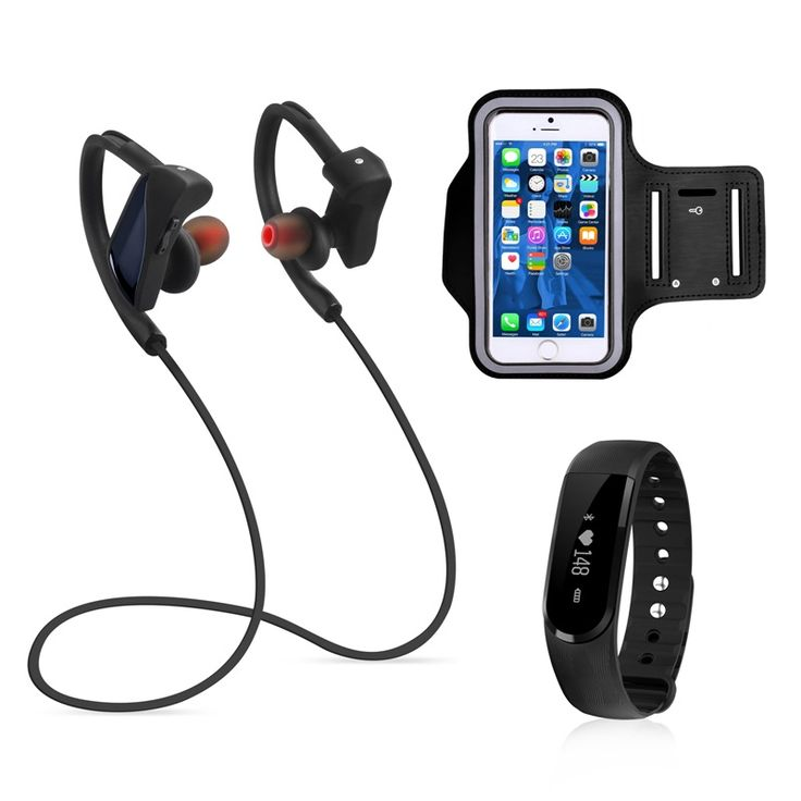 2016 auriculares bluetooth con microfono NiUB5 GT08 Noise Canceling Sweatproof Wireless Bluetooth Headphone+accesorios deportivo