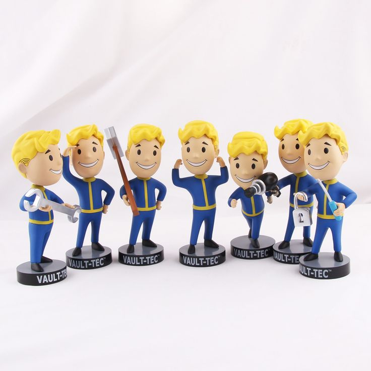 PVC Action Figure For Kid Toys Fallout 4 Vault Boy Bobbleheads Series //Price: $13.84 & FREE Shipping //     #actionfigurecollectors