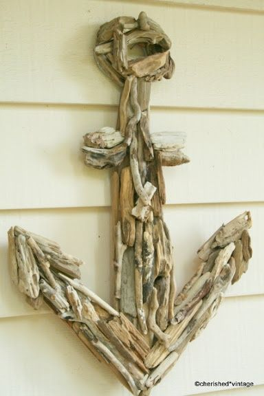 The girls are fascinated with driftwood.  This may be a fun project to do as a family.