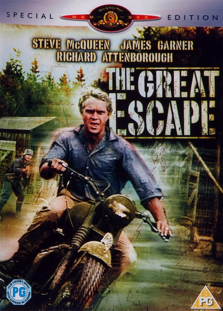 The Great Escape - one of my all time favorite war movies. I love Steve McQueen!!!