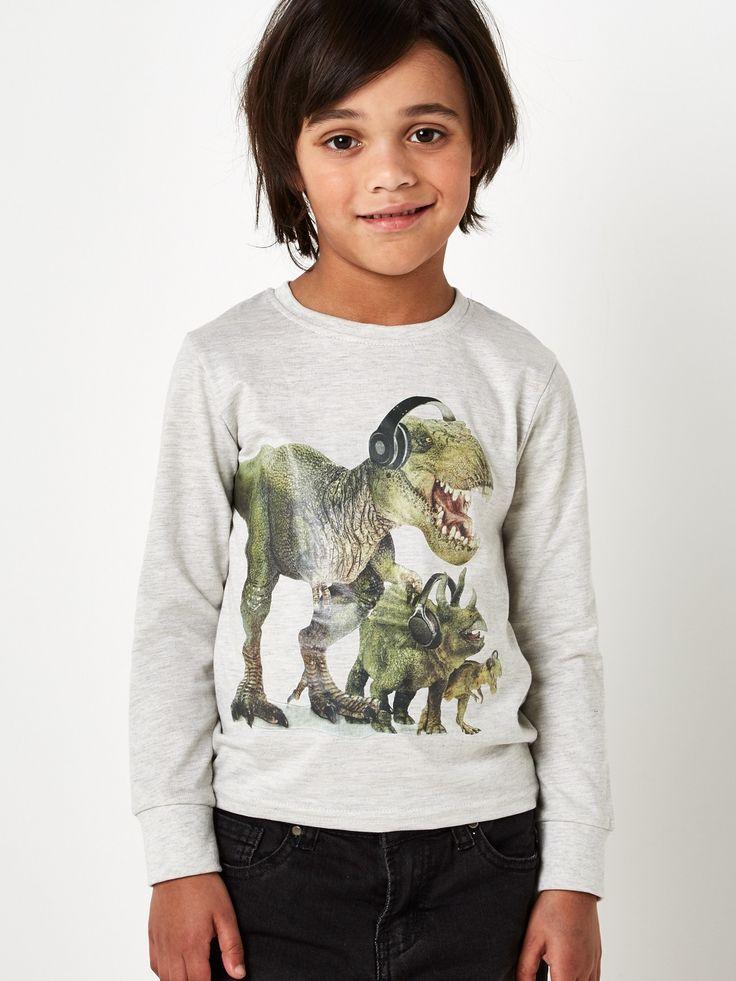 Boys Dinosaur long sleeve top 2-8years