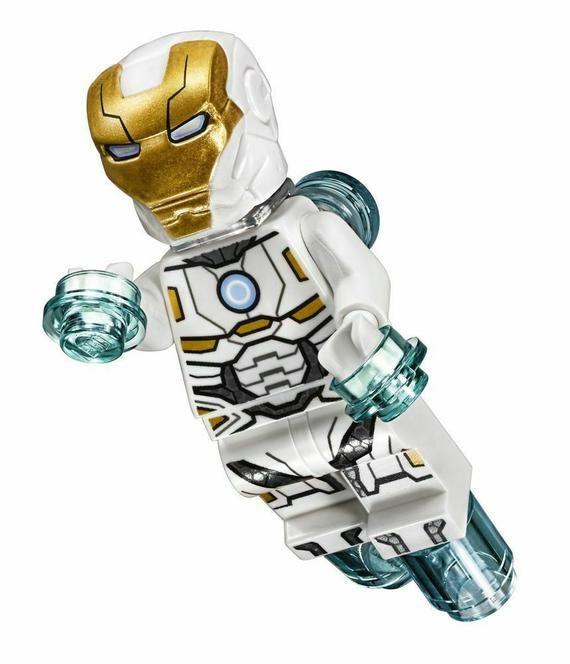 ⎡DRAGON BRICK ⎦Custom Iron Man Tony Stark Armor Mark 50 Lego Minifigure