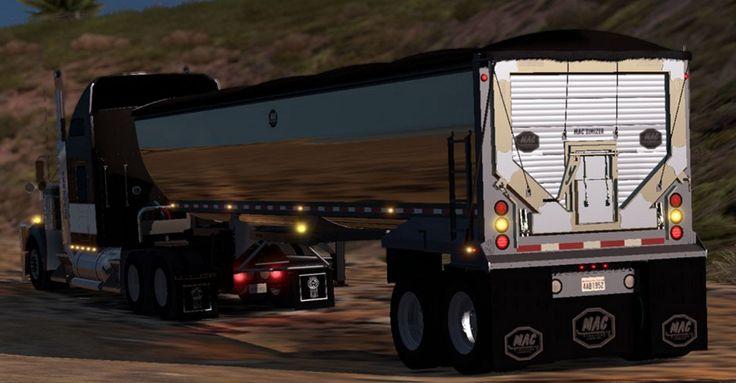 Chrome Dumper Trailer ATS - American Truck Simulator mod | ATS mod