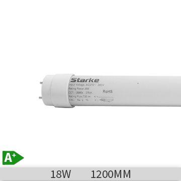 Tub led Starke 18W, T8, 30000h, 1200mm, 6400k, lumina rece