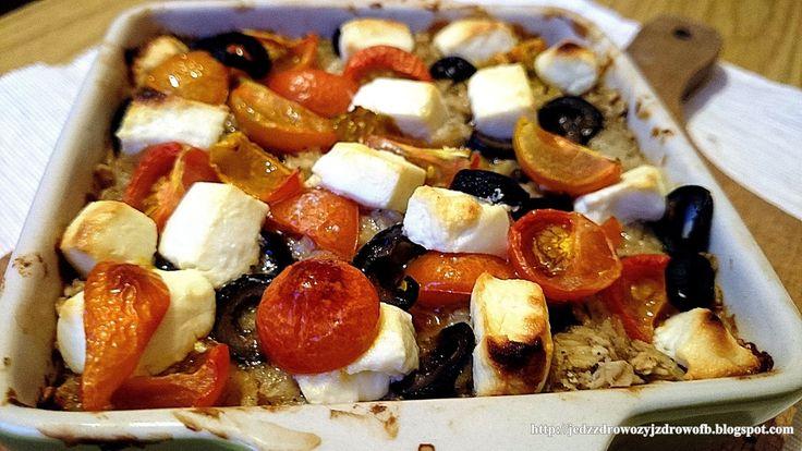 """Jedz zdrowo żyj zdrowo: Pieczona owsianka  w stylu """"greckim"""""""
