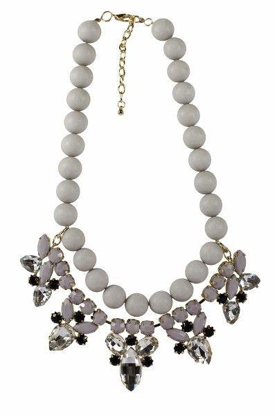 Grey Bauble Necklace