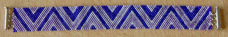 paars peyote armband