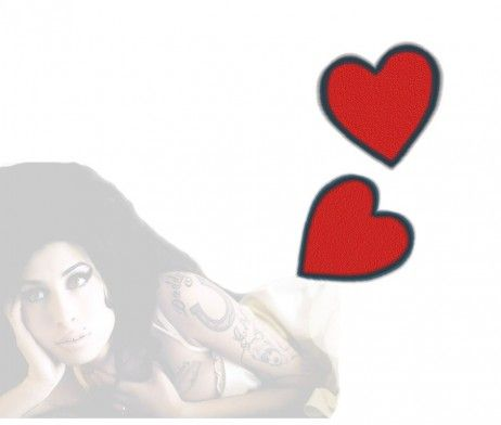A simple tattoo made of two red hearts, which used to sit next to the Amy's Cynthia tattoo. Heart tattoos, either simple or complex, will always send heavy messages that represent love, passion, feelings and emotions.