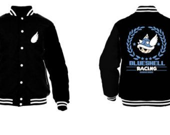 Blue Shell Racing Varsity Jacket (Inspired by mario Kart ...