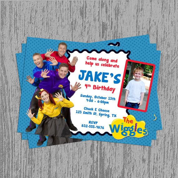 The New Wiggles Birthday Invitation by LastingMomentsDesign, $8.00