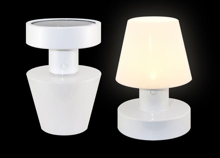 Lampe solaire / Sans fil - H 20 cm Blanc - Bloom!