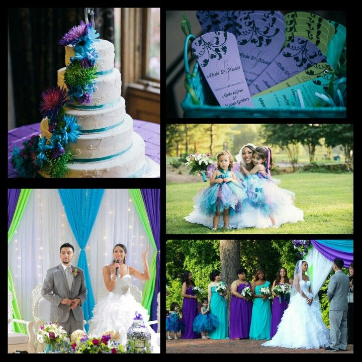 wedding cakes turquoise and purple 22 best june wedding images on neon green 25793