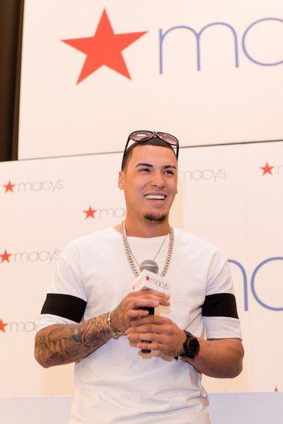 Chicago Cubs' Javier Báez greets fans at Macys on State Street to celebrate World Series Championship on November 7, 2016 in Chicago, Illinois.