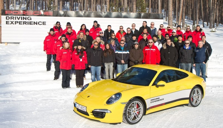 The 2013 Carrera 4S group, Ivalo Finland.