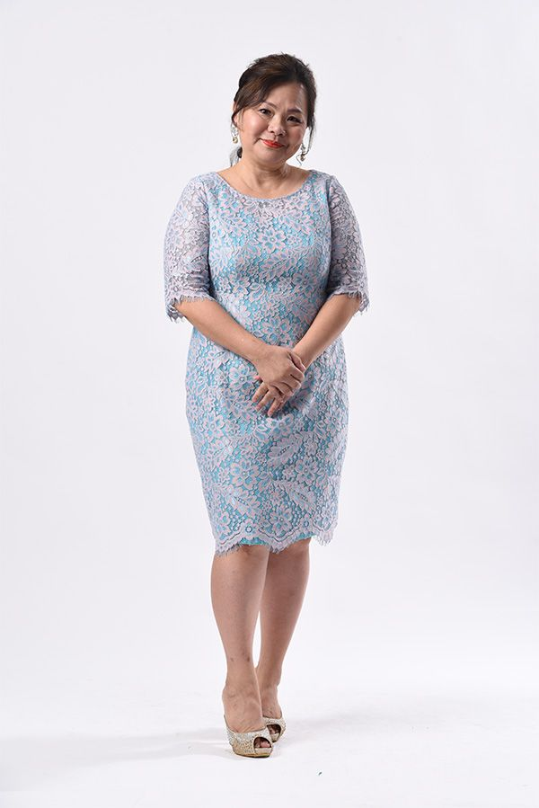 Plus size casual wrap dress