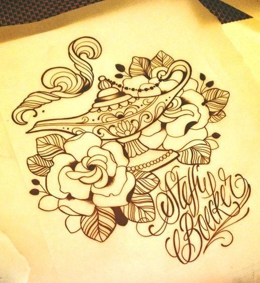 17 best ideas about genie lamp tattoo on pinterest for Aladin tattoo salon