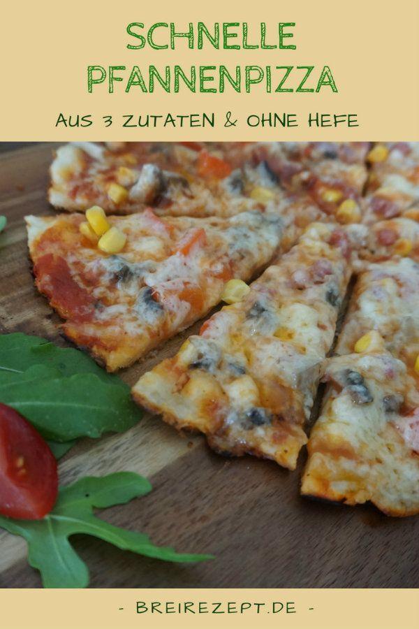 Schnelle Pfannenpizza ohne Hefe   – food