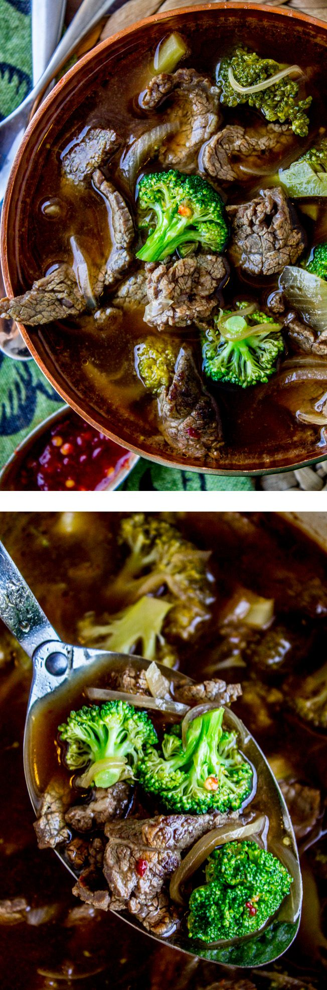 It's your favorite Chinese beef and broccoli dish, turned into soup! Strips of super tender beef, paired with broccoli in a rich and spicy broth.