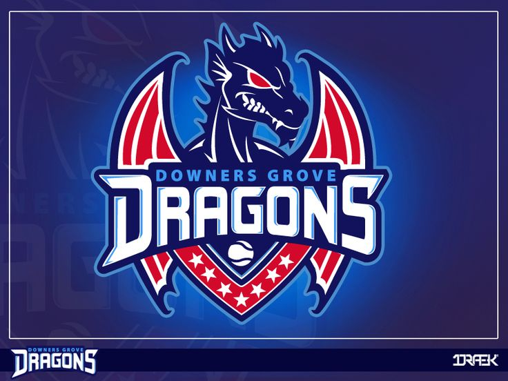 Downer Groves Dragons (Sports Dragon Logo) by Draekdesign ...