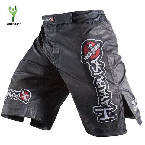 HAYABUSA - Black MMA Shorts - Print 2