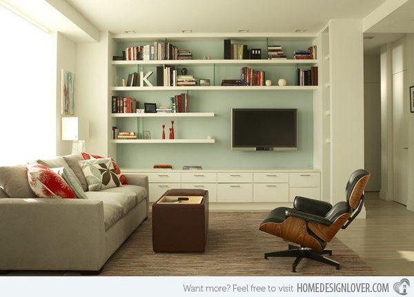 15 Modern Day Living Room TV Ideas | Home Design Lover
