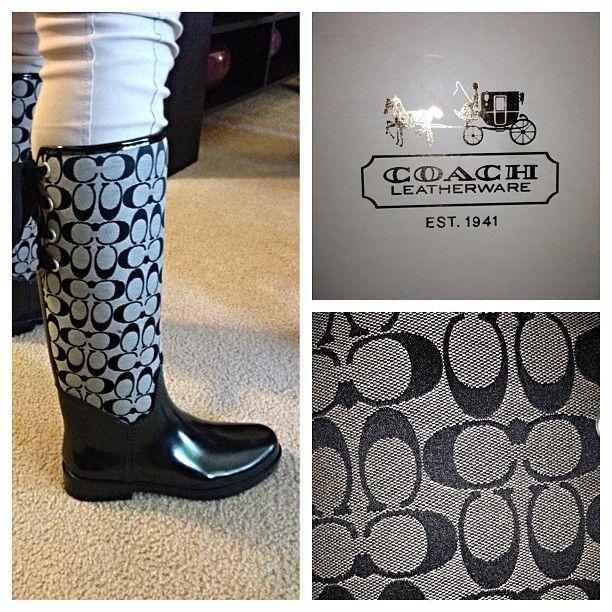 coach rain boots \u003c3   Coach rain boots