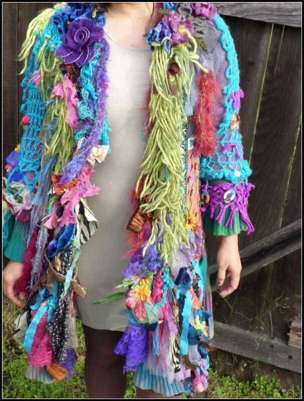 sweater, jacket, colorful, handmade, art to wear, textile art, unusual, bohemian, hippie, fun, winter coat, daring, nuevo, eccentric,couture by WearMeOutTonight on Etsy https://www.etsy.com/au/listing/515219931/sweater-jacket-colorful-handmade-art-to