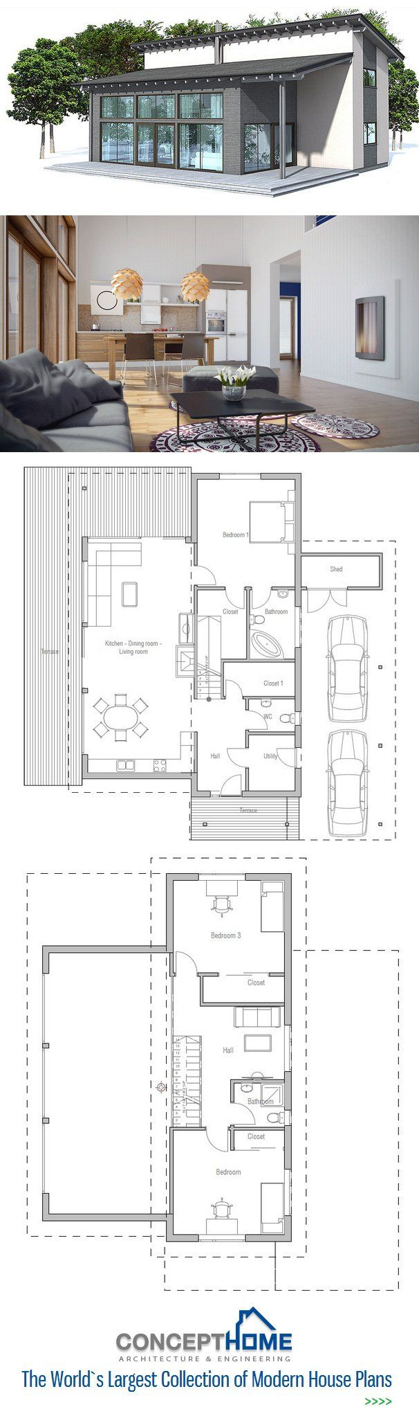 25 best small modern house plans ideas on pinterest modern i really love this one its perfect really small house plan floor plan from
