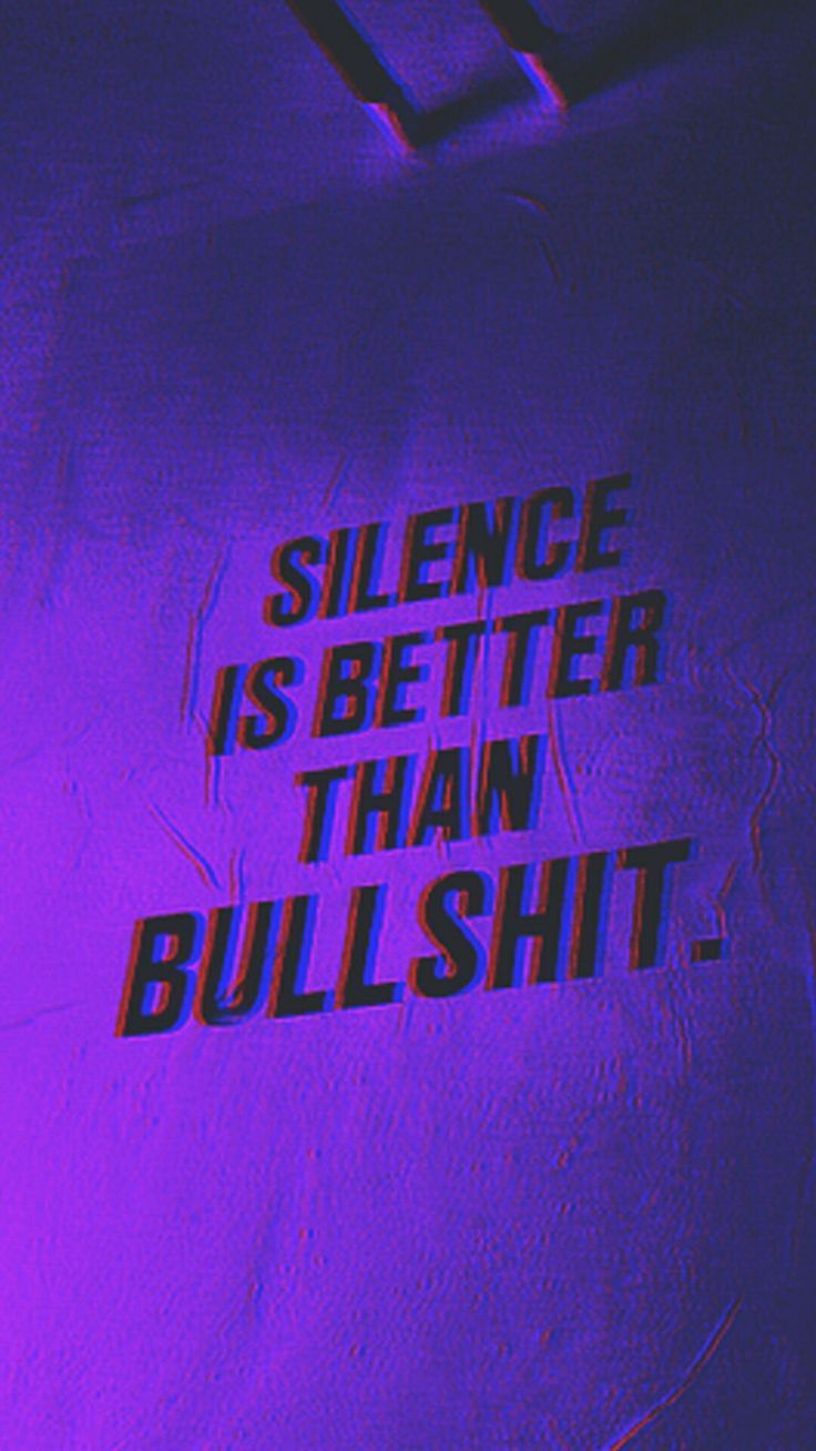 Aber ich genieße diese Stille wirklich nicht rn /…