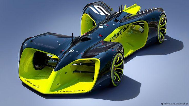 ダニエル・サイモンがデザインする無人レースカー「ロボレース」が公開に  写真・画像