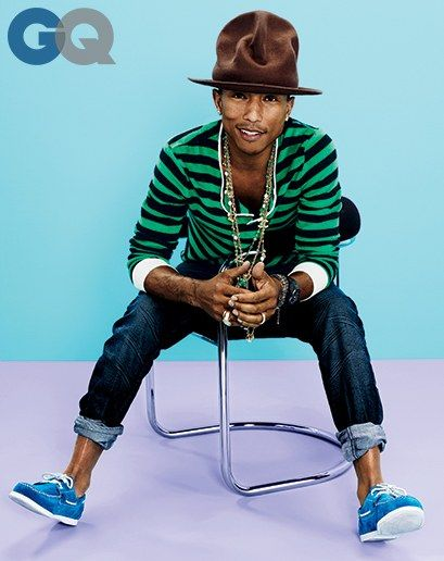 copilot style celebrities 201404 1395689353719 pharrell williams gq  magazine april 2014 mens style fashion color 01