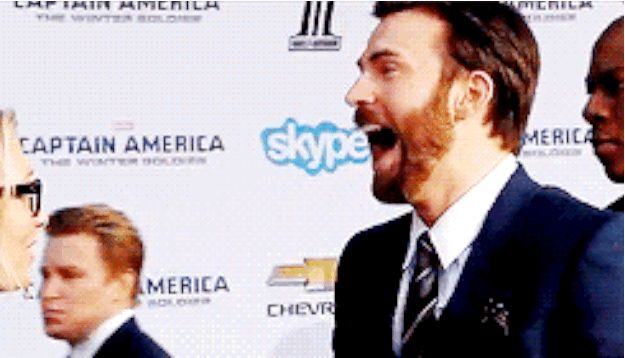 Ugh. He's so adorable and I love his laugh. :) | Chris Evans Laughing Is Everything You Need Today