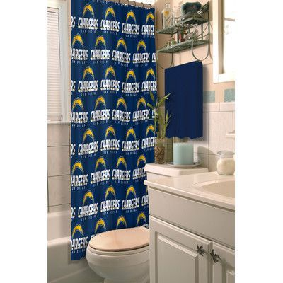Northwest Co. NFL Chargers Shower Curtain