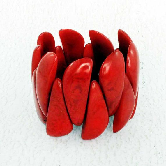 Red Bracelet made of Tagua  Nut Jewelry  Red Bangle   https://www.etsy.com/listing/233055310/red-bracelet-made-of-tagua-nut-jewelry