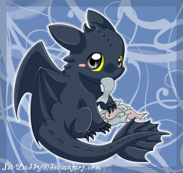 Little Toothless drawn by Isi-Daddy ...  How to train your dragon, toothless, night fury, dragon
