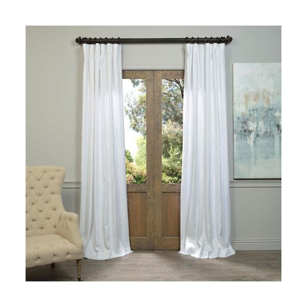 Half Price Drapes White 108 X 50 Inch Linen Curtain Single