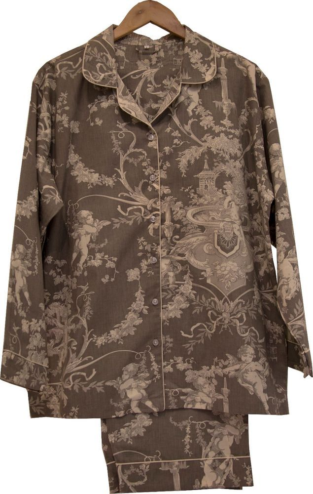 Cherubs Grey: 100% Cotton Women's Pajamas
