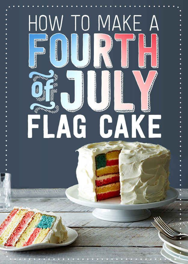 How To Make A Fourth Of July Flag Cake