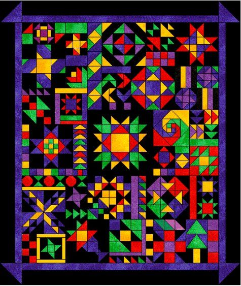 """Planet Patchwork's 2010-2011 Block of the Month, """"Oh, My Stars,"""" by Diane Hundley"""