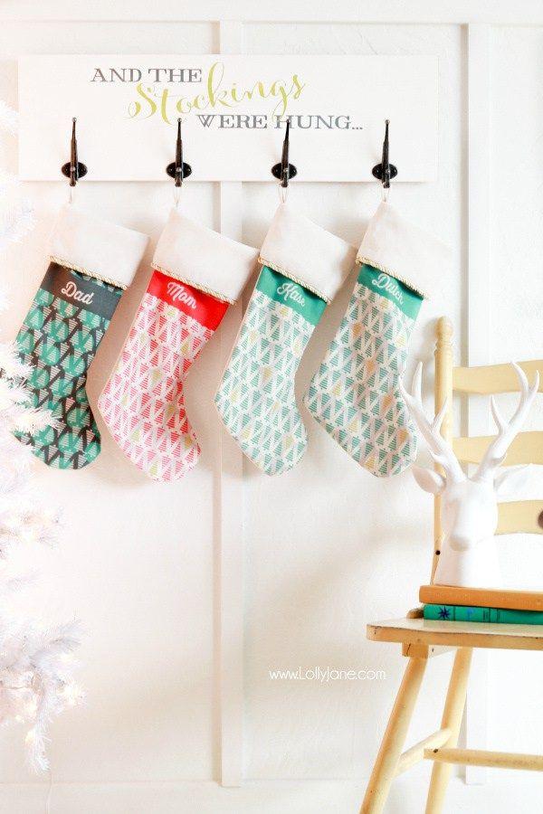 DIY-Christmas-Holiday-Stocking-Board Lolly Jane