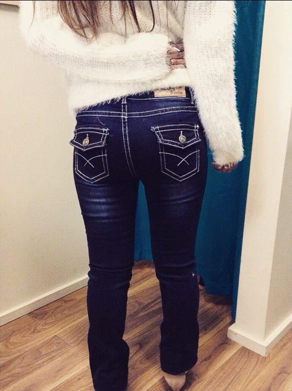 Country Denim Jeans with gorgeous stitching.