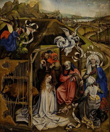 """Nativity,"" by Robert Campin, c. 1420"