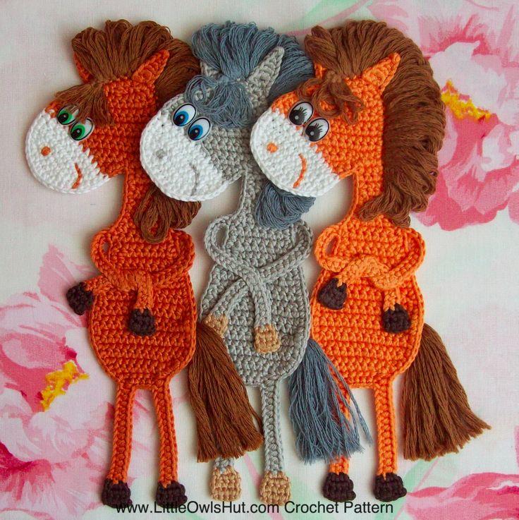 025 Horse bookmark crochet patter on Ravelry by Svetlana Zabelina for LittleOwlsHut #LittleOwlsHut, #Horse, #Zabelina, #Amigurumi, #CrochetPattern, #DIY, #Pony, #Bookmark, #Project, #Crochet,