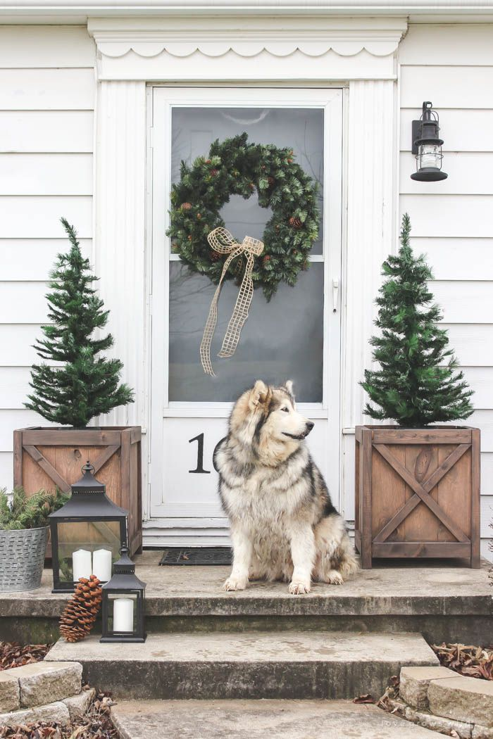 35+ Classic Country Ideas for Outdoor Christmas Decorations